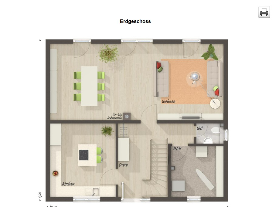 Erdgeschoss Flair 134